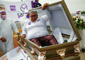 Mexican election candidate launches campaign from coffin
