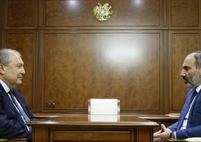Президент и премьер Армении обсудили возможность проведения выборов