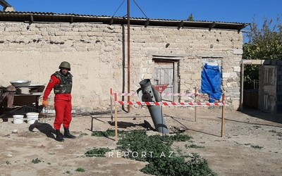 Enemy launches two Smerch missiles at Tapgaragoyunlu