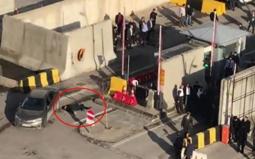 Türkiyədə təhlükəsizlik idarəsinin binası qarşısında atışma olub, ölən və yaralanan var