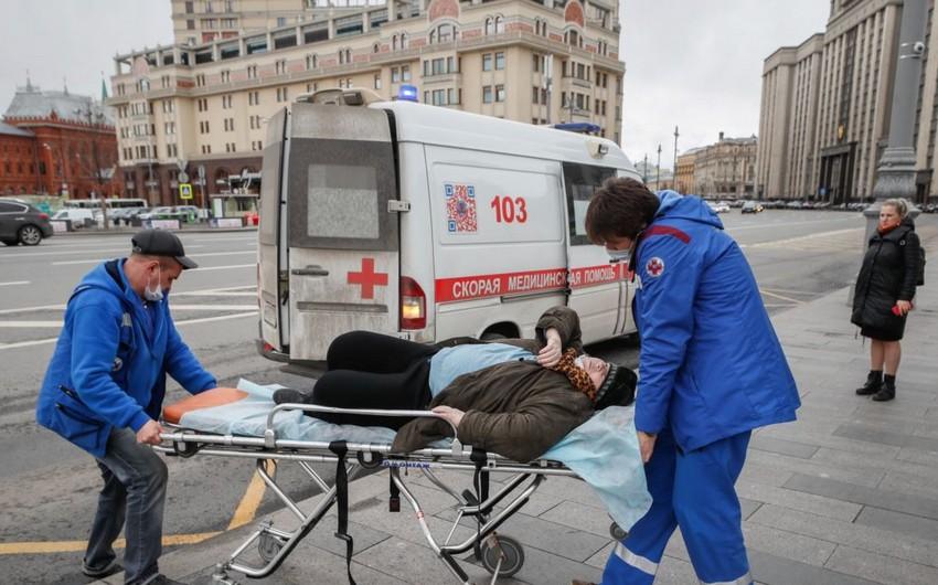 Rusiyada koronavirusa yoluxanların sayı 746 mini ötdü