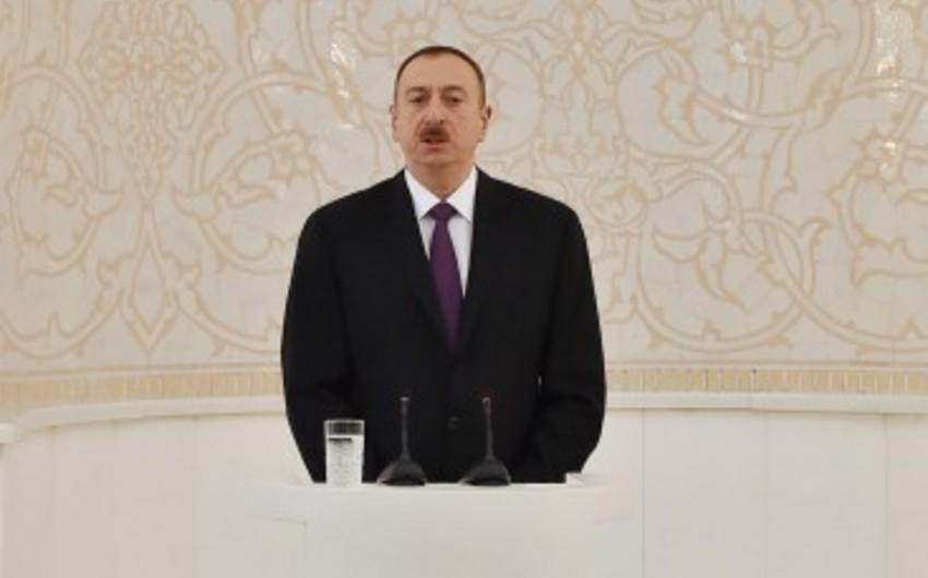 İlham Əliyev: Azərbaycan bu gün dünyada söz sahibidir