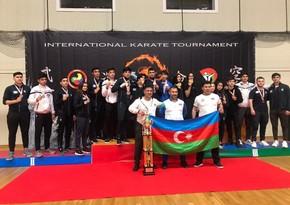 """Karateçilərimiz """"Unmei Cup"""" beynəlxalq turnirində komanda hesabında 1-ci oldu"""