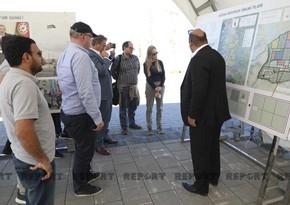 International travelers visit Azerbaijan's Aghdam district