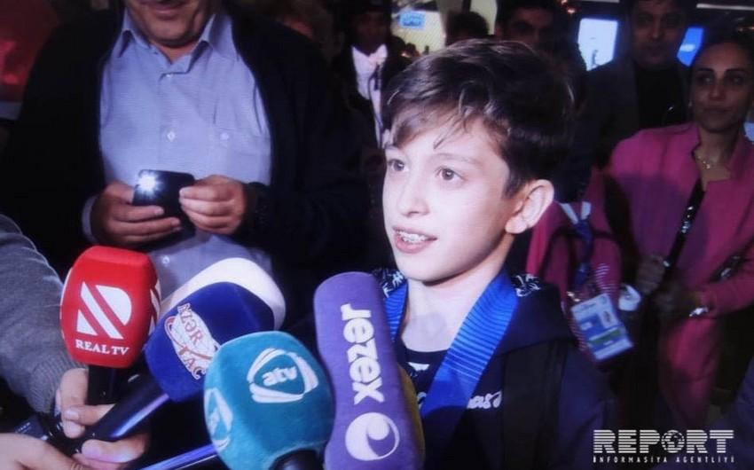 On üç yaşlı Avropa çempionu: Gələn il dünya çempionatında daha uğurlu çıxış edəcəm