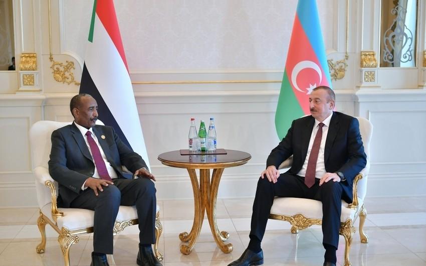 Prezident İlham Əliyev Sudanın Suveren Keçid Şurasının Sədri Abdel Fattah Abdelrahman Al-Burhanla görüşüb - YENİLƏNİB