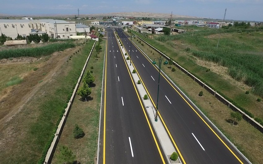 Goranboyda avtomobil yolu 5 istiqamət üzrə yenidən qurulub