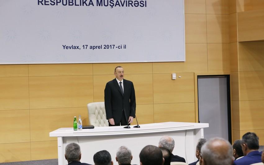 """Prezident: """"Böyük dövlət və özəl şirkətləri """"Made in Azerbaijan"""" brendini təbliğ etmə işinə cəlb etməliyik"""""""