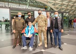 Двое проходивших в Турции лечение ветеранов войны вернулись на Родину