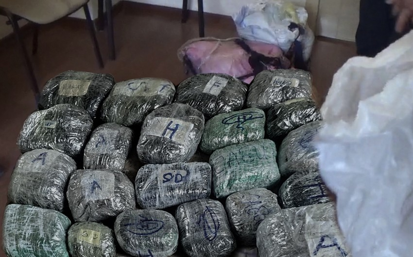 Polis əməliyyat keçirdi, 128 kq narkotik götürüldü - VİDEO