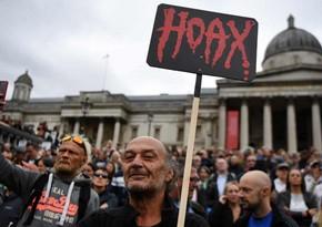 В Лондоне прошли акции протеста по отрицанию коронавируса