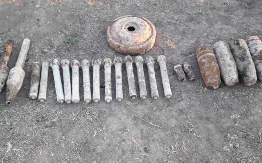 Ağstafada 11 raket və külli miqdarda silah-sursat tapılıb