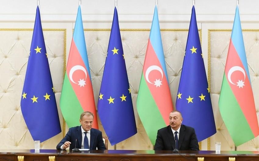 Dövlət başçısı: Azərbaycan və Avropa İttifaqı enerji təhlükəsizliyi və nəqliyyat sektorunda çox konstruktiv əməkdaşlıq edir