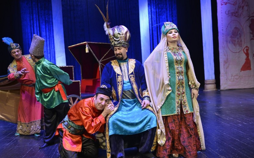 Musiqili Teatrda Təbriz Teatrı ilə birgə hazırlanan tamaşa nümayiş etdirilib