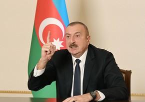 Prezident: Ermənistan hesab edirdi ki, bütün Laçın rayonu onlara dəhliz kimi verilməlidir