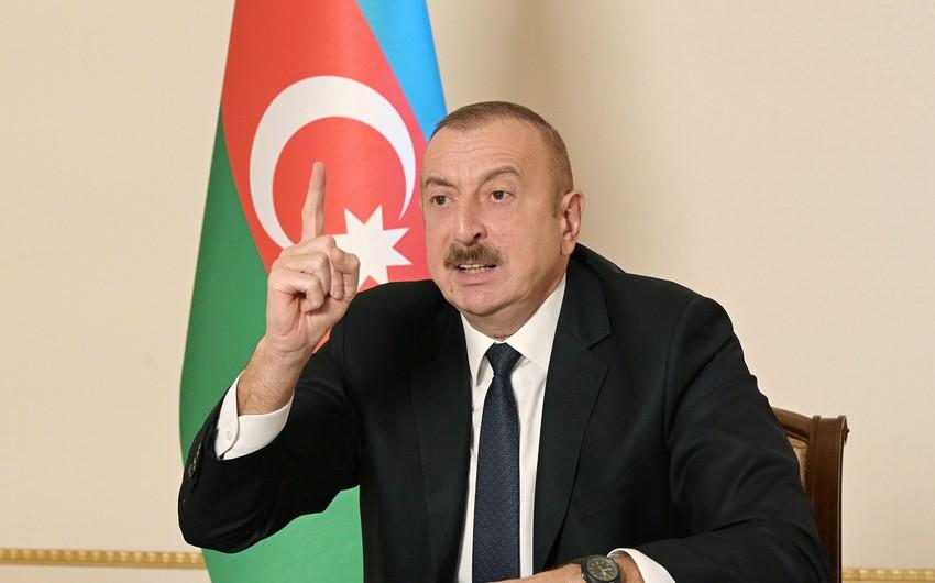 Президент: Армянская сторона считала, что весь Лачинский район должен быть отдан им как коридор