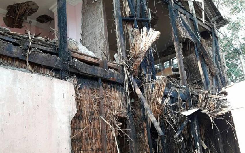 Bakıda məcburi köçkünlərin məskunlaşdığı binada yanğın olub - FOTO