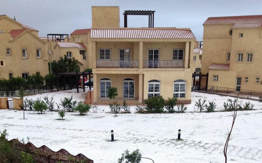 Снегопад накрыл Ливию и Египет