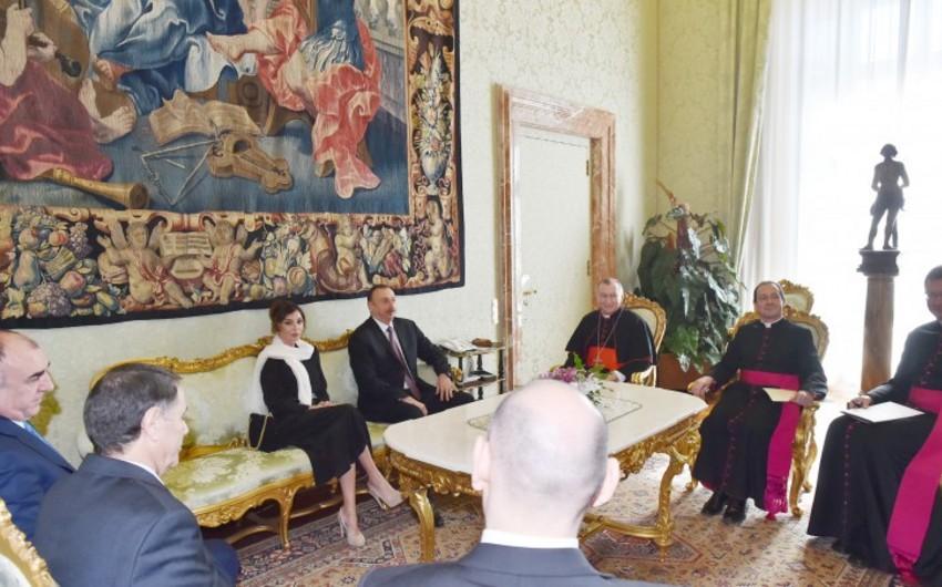 Azərbaycan prezidentinin Vatikana rəsmi səfəri başa çatıb