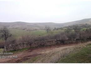 Видеокадры из села Гаргабазар Физулинского района