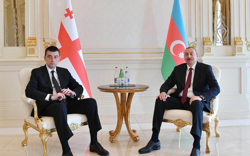 Gürcüstanın Baş naziri Azərbaycan Prezidentini təbrik edib