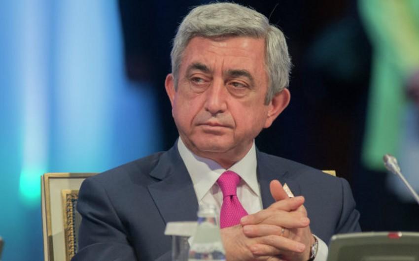 Sarqsyan Azərbaycan prezidenti ilə görüşünə münasibət bildirib