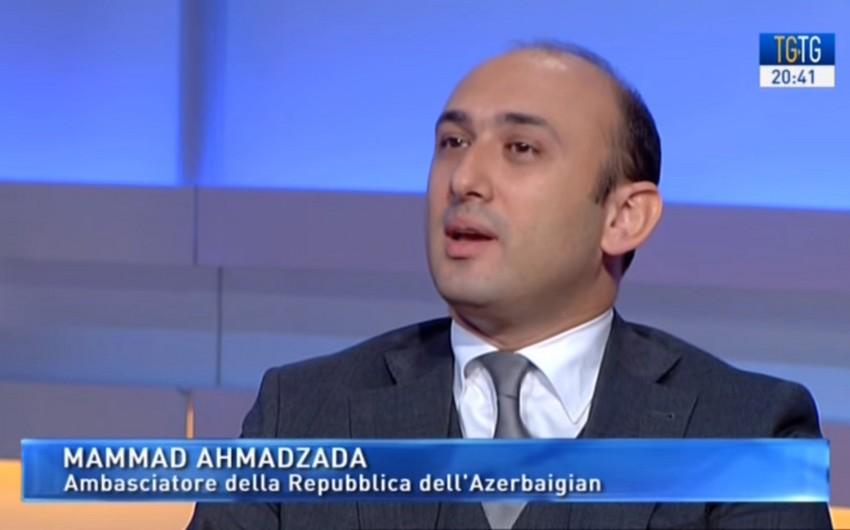 Azərbaycan səfiri İtaliyanın TV2000 kanalının canlı efirində qonaq olub