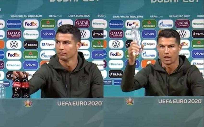 "Ronaldo ""Coca-Cola""dan imtina etdi -"
