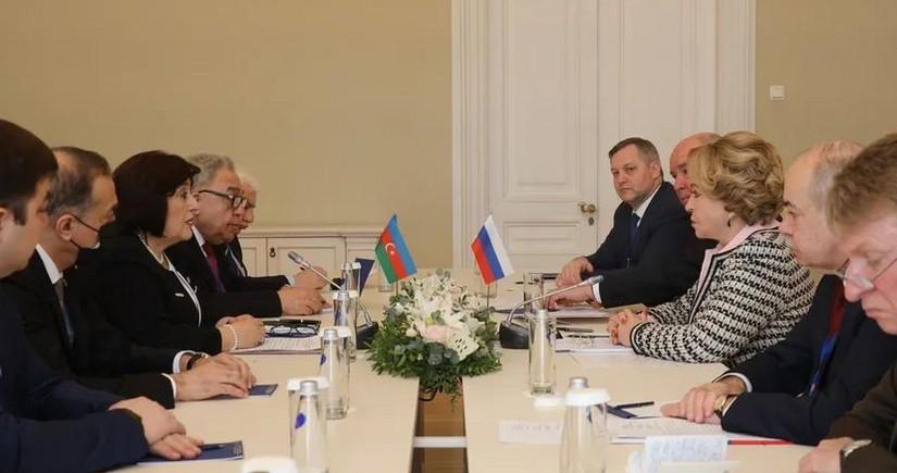 Matviyenko: Rusiya və Azərbaycanın əlaqələri strateji müttəfiqlik səviyyəsindədir