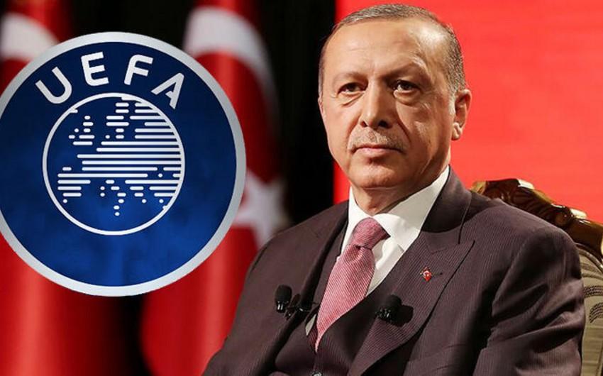 Ərdoğan UEFA-nın Türkiyə millisinə qarşı intizam işi açmasına münasibət bildirib
