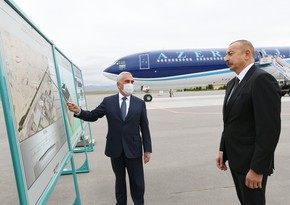 Ilham Aliyev attends presentation of new runway at Nakhchivan International Airport