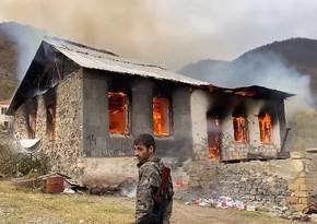 BBC: Armenians set fire to houses, leave area