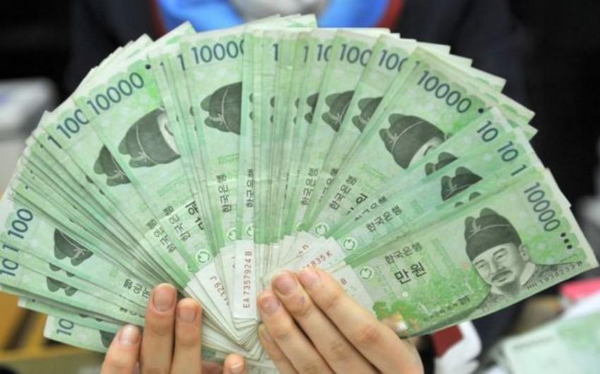 Cənubi Koreya valyutası ucuzlaşmağa başlayıb