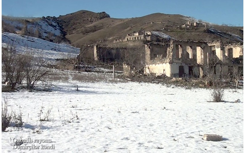 Footage from Damirchilar village of Gubadli region