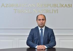 Təhsil naziri müəllimləri təbrik edib