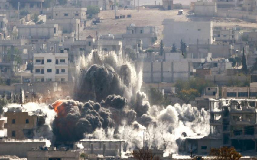 Rusiyanın Suriyada endirdiyi hava zərbələrinin yeni kadrları yayımlanıb - VİDEO