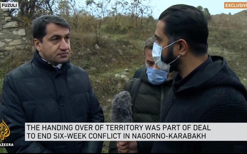 Телеканал Al Jazeera подготовил сюжет из освобожденного от оккупации города Физули