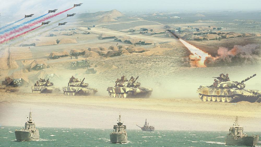 Images of live-fire stage of large-scale exercises released - VIDEO