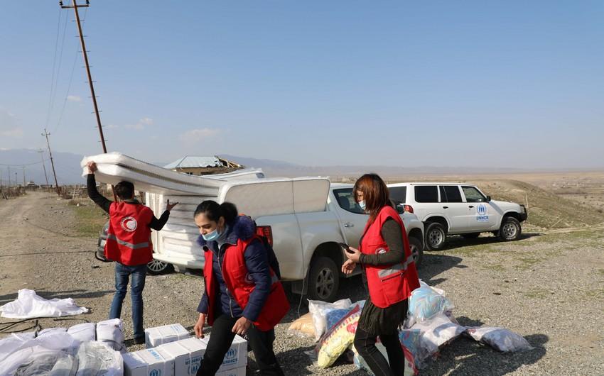 BMT Azərbaycanda münaqişədən zərər çəkən insanlara humanitar yardım göndərib