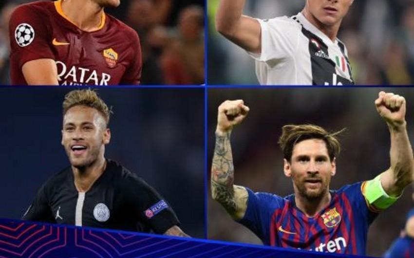 Названы претенденты на лучший гол и звание лучшего игрока недели в Лиге чемпионов