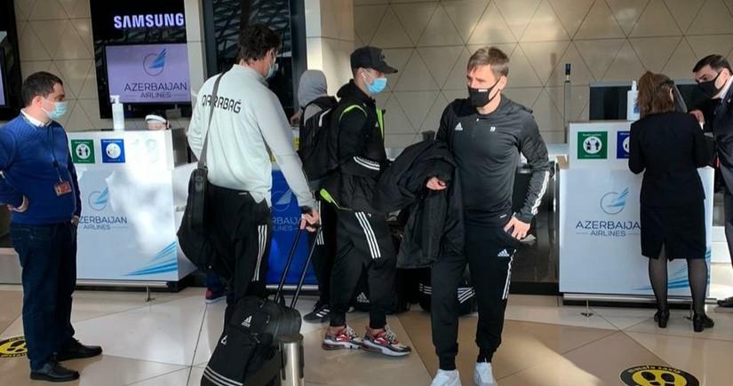 Qarabağ Makkabi matçı üçün Türkiyəyə yola düşdü