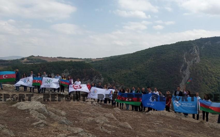 Представители молодежных организаций Азербайджана побывали на Джыдыр-дюзю