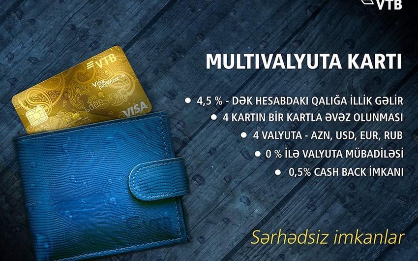 Bank VTB (Azerbaijan) yeni multivalyuta kartı təklif edir