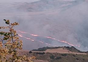 В горных местностях Агсу и Шемахе возобновились пожары