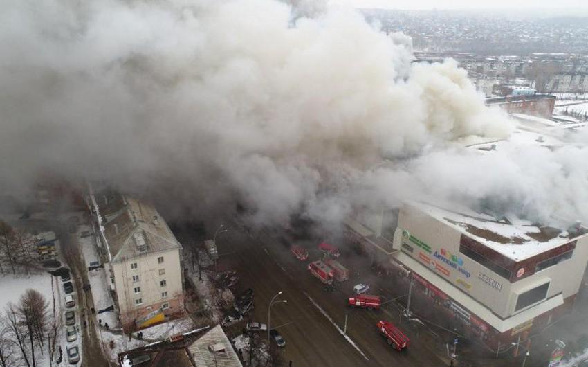 Kemerovoda yanğın zamanı itkin düşmüş 3 nəfər sağ tapılıb