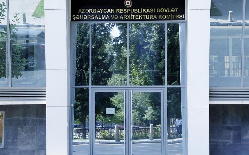Dövlət Şəhərsalma və Arxitektura Komitəsi tender keçirir