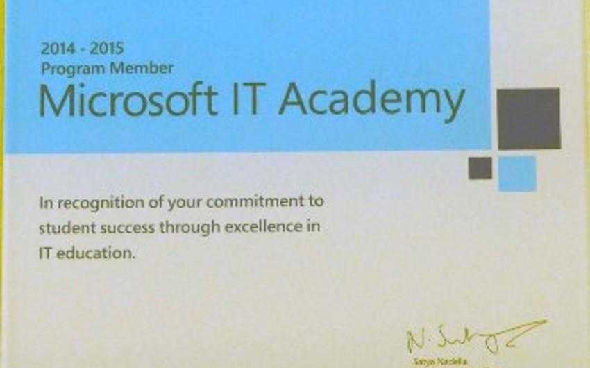 """В Бакинской Высшей Школе Нефти создана ИКТ Академия """"Microsoft"""""""