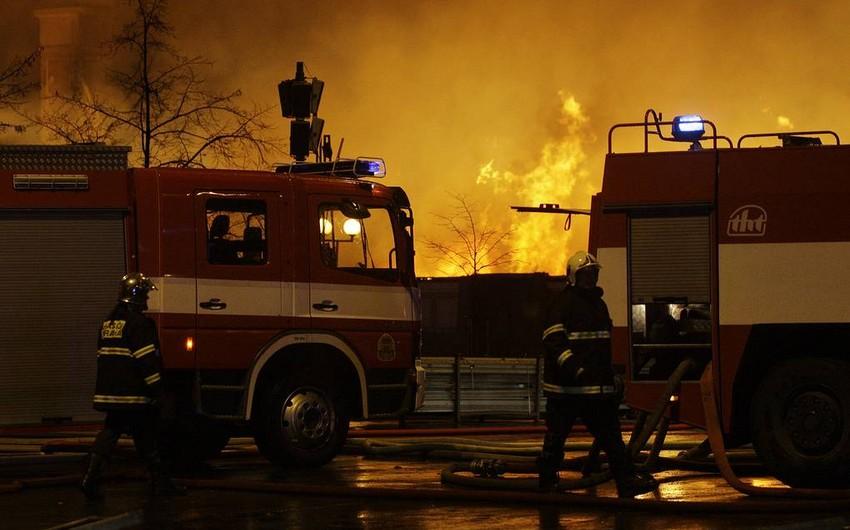 Çexiyada yanğın zamanı 14 nəfər xəsarət alıb