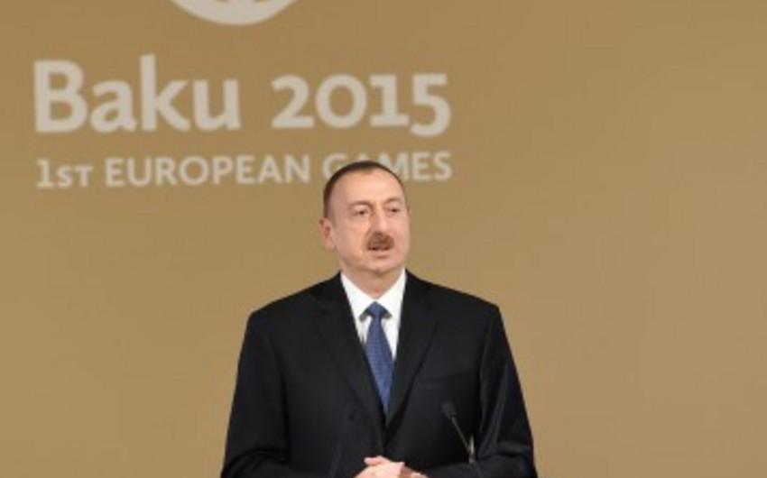 Azərbaycan Prezidenti: Qələbə sevinci, qürur hissi, idmançılarımızın rəşadəti, xalqımızın birliyi heç vaxt yadımızdan çıxmayacaq