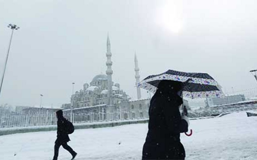 Из-за сильного снегопада в Стамбуле отложены 116 авиарейсов